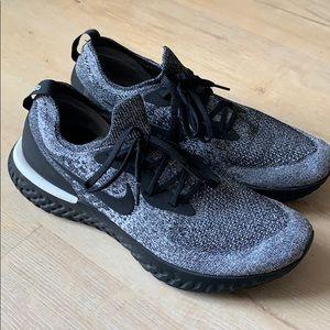Nike Epic React Flyknit Black/Grey/White